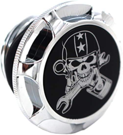 Glued California Skull Black GUAIMI CNC Aluminum Fuel Gas Tank Oil Cap For Harley Davidson Sportster XL 1200 883 X48 Dyna
