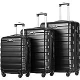 Merax Travelhouse Luggage 3 Piece Luggage Set Suitcase