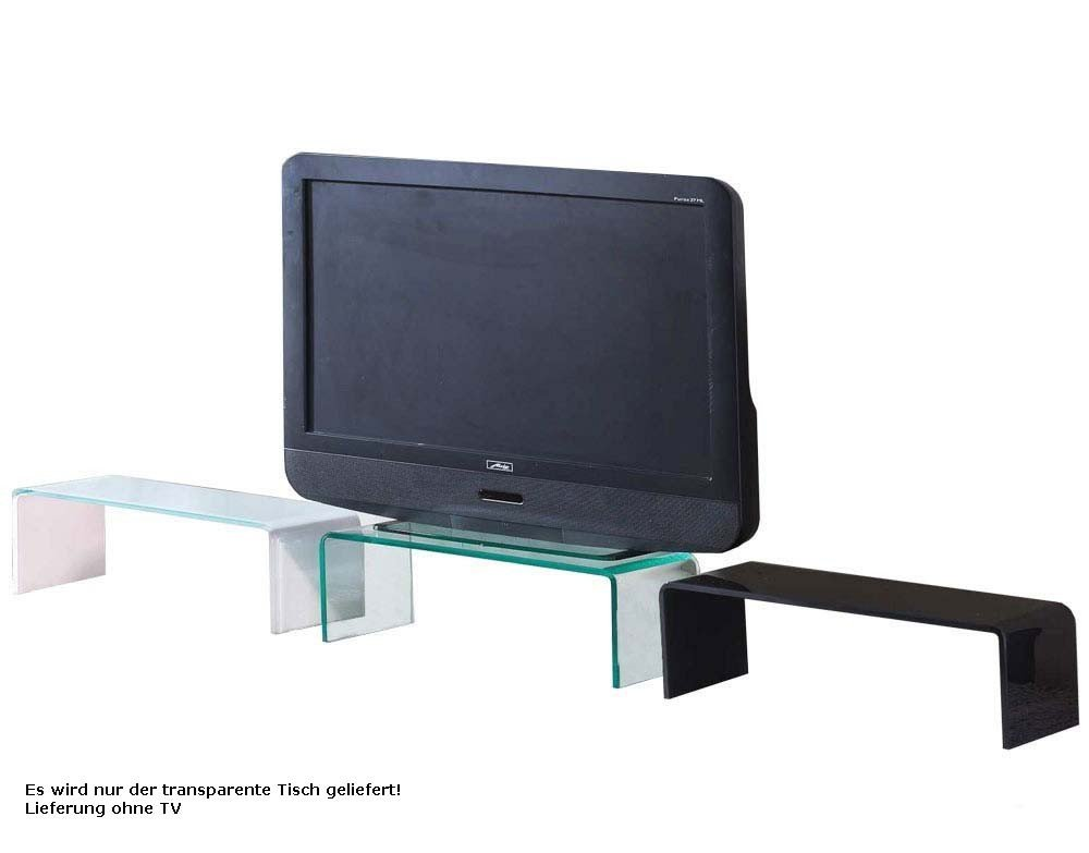 Tv schrank schwarz  TV Schrank-Aufsatz 90 cm Glas Fernsehtisch Glasplatte Glasaufsatz ...