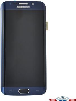 SWS® Pantalla Completa Original Samsung Galaxy S6 EDGE azul oscuro ...