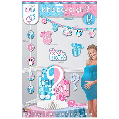 (Forum Novelties Party Decorating Kit, Gender Reveal, One Size)