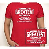 WORLDS GREATEST MOMMY (OR ANY TEXT) ACCORDING TO (ANY NAMES) | Womens