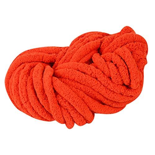Clearance Sale ! Wool Balls Handcraft,Vanvler Worsted Super Coarse Soft Smooth Natural Silk Wool Yarn Knitting Crocheting DIY 250 G (H) -  Vanvler -Chenille yarn