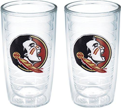 Tervis 1144466 Florida State University Seminole Head Emblem Tumbler, Set of 2, 16 oz, - Florida University State Collegiate