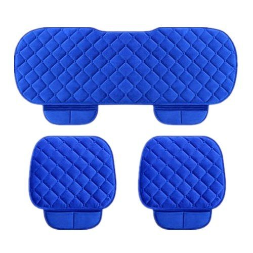 Gray YwewY Car Seat Cushion 3PCs General Protector Cover Anti-Skid Pad Mat Front /& Back Set Large Size