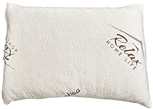 Bamboo Pillow-USA Made-Premium Quality Pillow with Stay Cool Bamboo Cover-Shredded Memory Foam-Hypoallergenic and Dust Mite Resistant-Relieves Snoring, Insomnia, Neck Pain, TMJ and Migraines(Standard)
