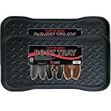 JobSite Heavy Duty Boot Tray, Multi-Purpose for Shoes, Pets, Garden - Mudroom, Entryway, Garage. Indoor or Outdoor - Floor Protection, Use As Humidity Tray, Pet Feeding Tray, or Cat Litter Tray - 71 cm L x 35 cm - 2 Pack