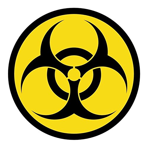 1-Pcs Likely Unique Biohazard Symbol Car Stickers Safety Labels Emblem Decal Macbook Laptop Patches Decor Window Home Art Wall Luggage Funny Graphics Vinyl Sticker Decals Size 2