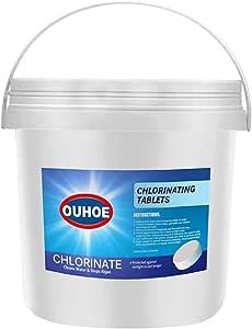 Chlorine Pool Tablets, 300Pcs Chlorine Swimming Pool Tablet Tablets Chlorine, Chlorinating Tablets Pool&Spa (300pcs-A)