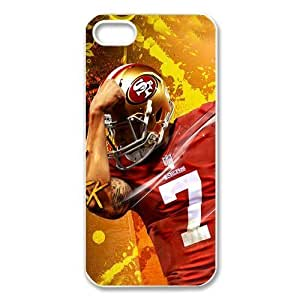 NFL San Francisco 49ers Colin Kaepernick Iphone 5 5S Case Durable Case Cover-black&white