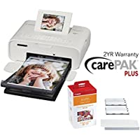 Canon Selphy CP1200 Wireless Compact Printer (White) with RP-108 and 2 YR Canon Carepak Plus