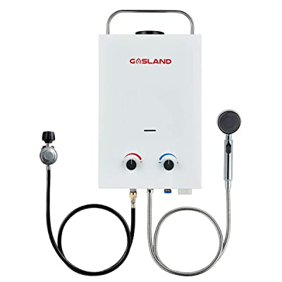 Tankless Water Heater, Gasland BS158 1.58GPM 6L Outdoor Portable Gas Water Heater