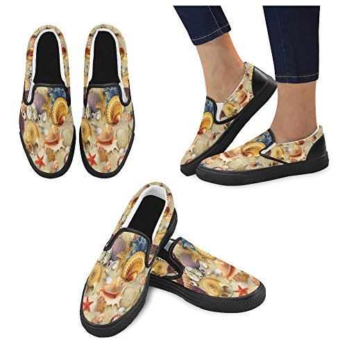 Unique Debora Mode Personnalisé Baskets Féminines Mocassins Inhabituels Slip-on Chaussures En Toile Multicoloured26