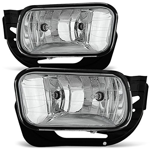 For 2009-2012 Dodge RAM 1500/10-18 2500 3500 Clear Bumper Fog Lights Pair w/Bulbs, Bracket Replacement