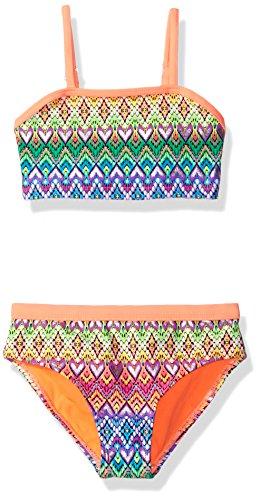 Angel Beach Little Girls' Swim Love Nation Bikini Set, Multi, 5 by Angel Beach