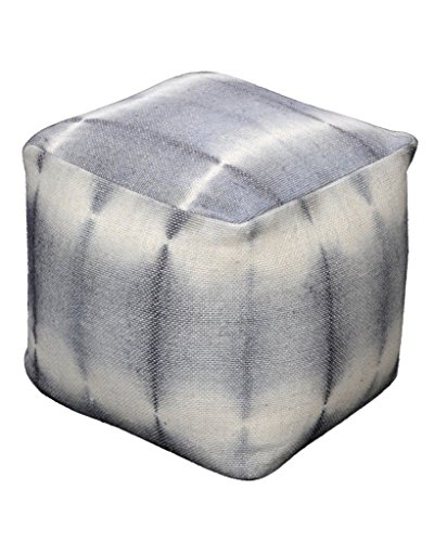 Rugs2Clear Hand Made Without Filler Plaster Wool Ronaldo Pouf (40cm X 40cm  X 40cm)