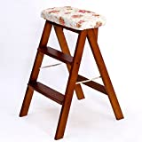 YD-Step stool Homewares Folding Step Stool Adults Solid...