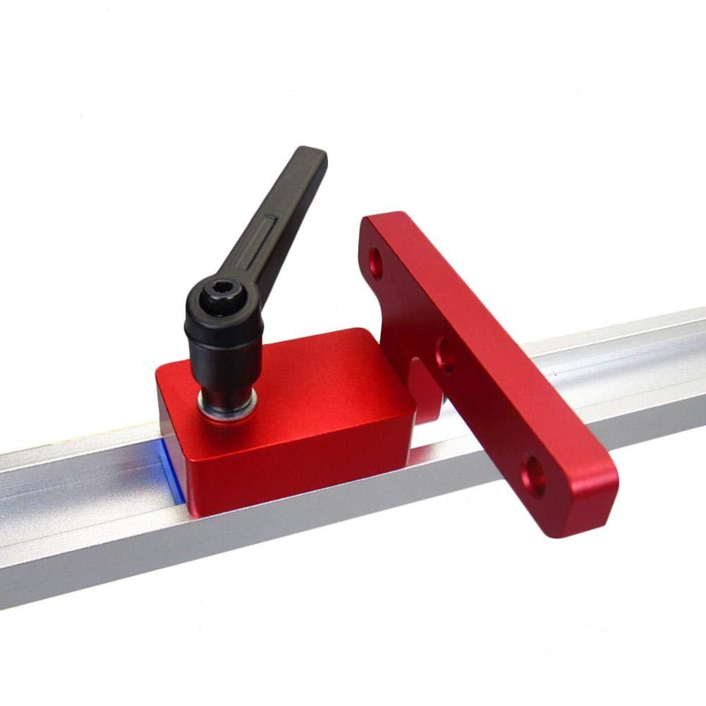 iStary T-Ranura T-Tracks Mitre Track Stop Dise/ño Ergonomico Ayuda A Limitar La Longitud del Canal Carpinter/ía Durable Herramienta De Bricolaje Herramienta De Carpinter/ía DIY Manual