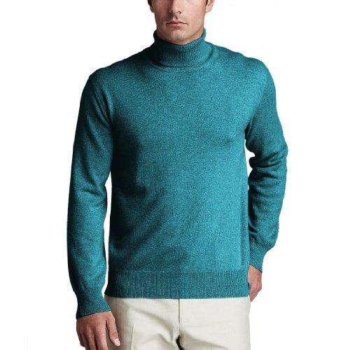 - Parisbonbon Men's 100% Cashmere Turtleneck Sweater Color Sky Blue Size 4X