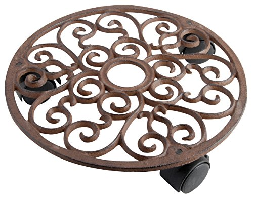 Cast Caddy Iron Plant (Esschert Design Plant Trolley - Round Cast Iron)