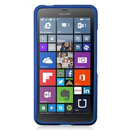 - Microsoft Lumia 640 XL Case, Eagle Cell Rubberized Hard Snap-in Case Cover For Microsoft Lumia 640 XL, Blue