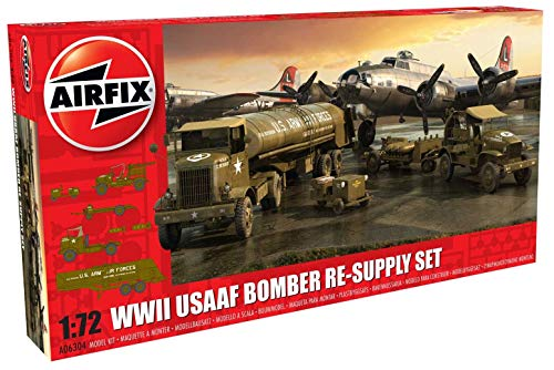 Airfix WWII USAAF 8th Air Force Bomber Resupply 1:72 Military Plastic Model ()