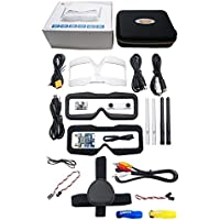 Skyzone SKY02S V+ 5.8G 40CH 3D FPV Goggles w/Transmitter Camera Head Tracking HDMI DVR (Free ARRIS Battery Straps)