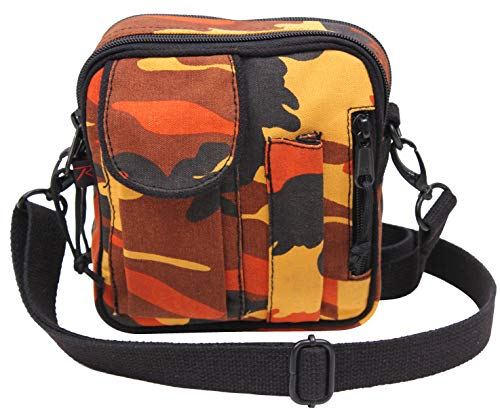 Rothco Camo Excursion Organizer Shoulder Bag, Savage Orange Camo