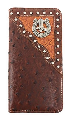 Cowboy Boot Purse - New Style Premium Cowboy Boots Mens Bifold Wallet in 2 Colors (Brown)