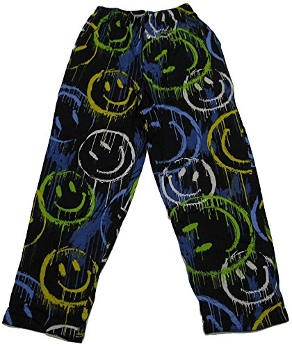 Fun Boxers Mens Smiley Fun Prints Pajama & Lounge Pants, Dripping Smiley, Large (Pants Fun Pajama)