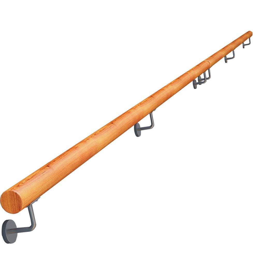 600cm contra la Pared Interior Loft Ancianos Barandas Corredor Barra Soporte Antideslizante for escaleras de Madera Pasamanos Size : 100cm Kit Completo Longitud 50cm Pasamanos
