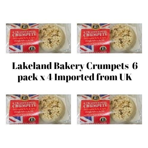 Bundle of 4 items Lakeland Bake, Traditional British Crumpets, 6ct, Expire Jan 2020 Delivers 3-5 Days USA