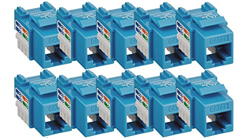 iMBAPrice (Pack of 10) Keystone Punch Down Jack Cat-5e RJ-45 - (Punch Down Cat5)
