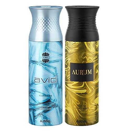 Ajmal Avid & Aurum Deodorants for Men & Women (200 ml, Pack of 2)