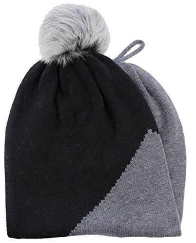 - UGG Women's Snoot w/ Toscana Trim - Snood + Hat Black Multi Scarf One Size