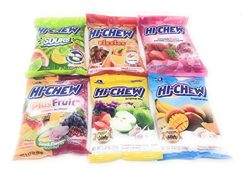 Fusion Select Hi Chew Candy 6 Flavor Variety Pack Bundle (Tropical Mix, Sours, Fizzies, Fruits Plus, Strawberry, Original Mix) by Fusion Select