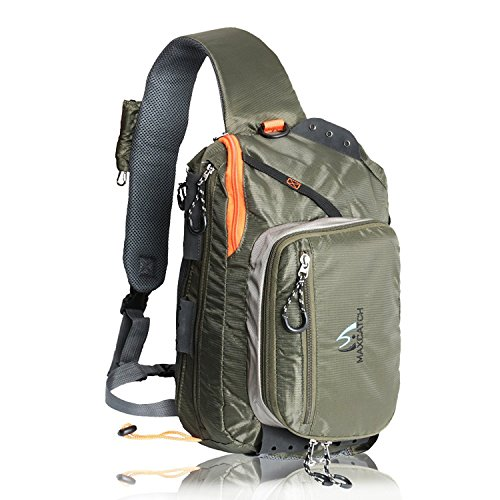 M MAXIMUMCATCH Maxcatch Fly Fishing Sling Pack Adjustable Size (FCO Sling Pack)