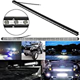 KOYA Waterproof IP67 Extreme Slim Cree LED Chip 108W 38inch 12960LM Off Road Spot Flood Combo Beam Lighting Work Single Row Light Bar for SUV,JEEP,4X4,UTV,TRUCK