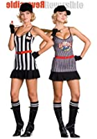 Dreamgirl Sexy REVERSIBLE Baseball Player Referee Halloween Costume
