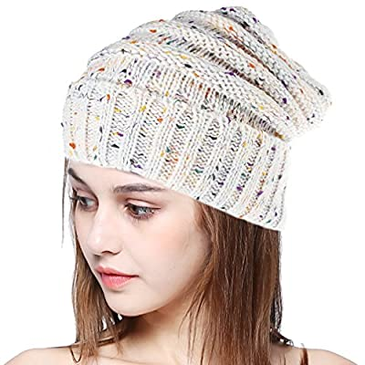 BiBOSS Cable Knit Beanie Winter Hats Unisex Leisure Warm Knit Hat Skull Cap Beanie Hat