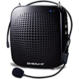 Nefficar Portable LoudSpeaker with Microphone - Classroom PA System or Voice Amplifier, with Natural Sound - Works as Speaker with Aux Cable - In built TF Card Reader and USB Flash Drive - Ideal Voice Amplifier for Teachers, Instructors, Emcees, Tour Guides and Trainers (Black)
