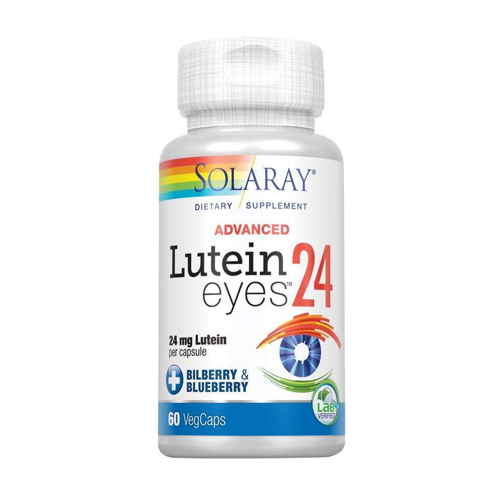 Solaray - Lutein Eyes Advanced, 24 mg, 60 Capsules by Solaray