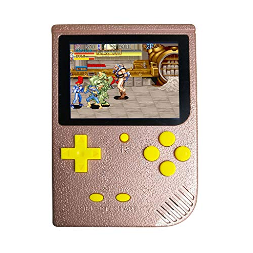 - IslandseHandheld Game Console 3 Inch 2000 Games Retro FC Game Player Classic Game Consol (Hot Pink)