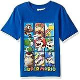 Nintendo Big Boys Super Mario Characters T-Shirt, Blue, 8