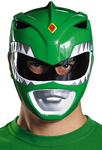 White Ranger Vacuform Mask - Disguise Costumes Green Ranger Vacuform Mask,