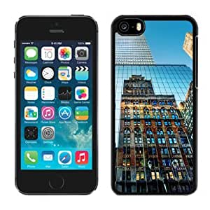 NEW Unique Custom Designed Case For Iphone 5/5S Cover Phone Case With New York City Buildings_Black Phone Case