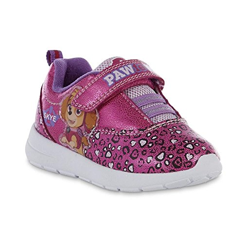 Paw Patrol Girls Toddler Shoe Pink Skye Athletic Sneaker (11, Pink)
