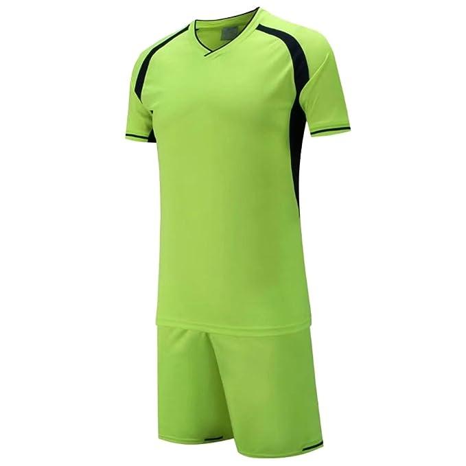 BOZEVON Traje de Entrenamiento de Fútbol Futbol Deportivo de Secado Rápido y Transpirable para Camisetas Hombres Traje de Entrenamiento de Fútbol para: ...