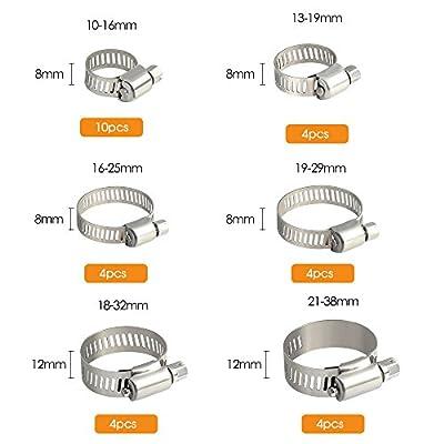 FEPITO-30pcs-Jubilee-Schlauchschellen-Verstellbare-10-38mm-Palette-Edelstahl-Schlauchschelle-Sortiment-6-Gre