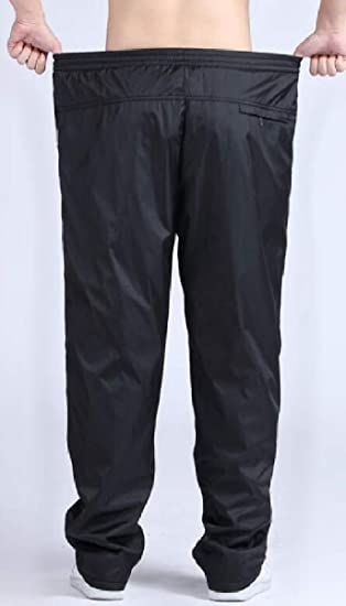 ZXFHZS Mens Tall Sports Pant Solid Color Elastic Waist Exercise Casual Pants